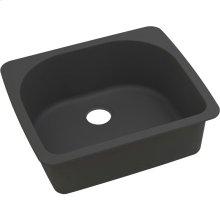 """Elkay Quartz Classic 25"""" x 22"""" x 8-1/2"""", Single Bowl Drop-in Sink, Black"""