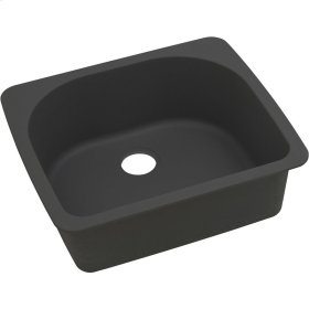 "Elkay Quartz Classic 25"" x 22"" x 8-1/2"", Single Bowl Top Mount Sink, Black"