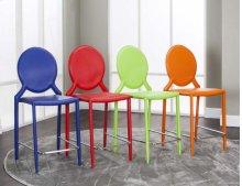 """Mirage Multi 24""""stools (4pk) Green, Red, Blue, Orange"""