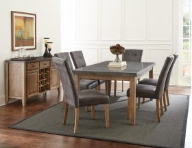Debby Bluestone Table with 6 Chairs