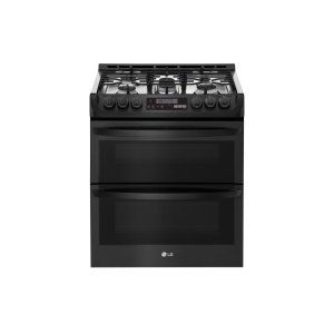 LG Appliances6.9 cu. ft. Smart wi-fi Enabled Gas Double Oven Slide-In Range with ProBake Convection® and EasyClean®