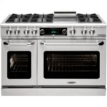 "48"" 6 Burner Gas Convection Range, Dual Fuel, Self Clean"