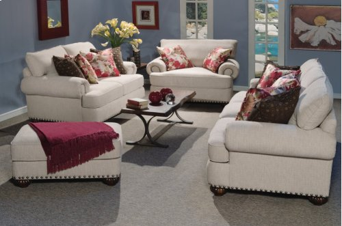 Patterson Fabric Loveseat with Nailhead Trim