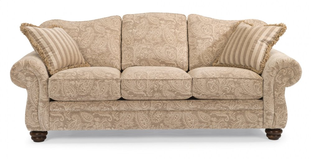 Attirant Bexley One Tone Fabric Sofa Without Nailhead Trim
