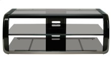 Versatile Two-tone Black Finish Audio/Video Furniture