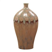 Mocha & Verde Dripped Ceramic Vase - Tall