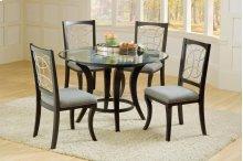 Seville Dinette : Seville Black / Marble / Silver Round Dinette Table