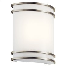 1 Light LED Wall Sconce Brushed Nickel