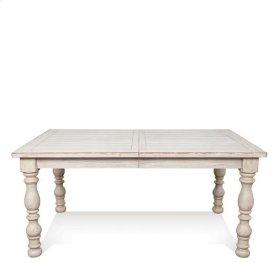 Aberdeen Rectangular Dining Table Weathered Worn White finish