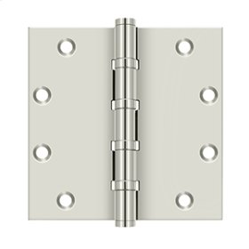 "5""x 5"" Square Hinges, Ball Bearings - Polished Nickel"