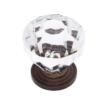"Old World Bronze 1-1/4"" Acrylic ""Crystal"" Knob"