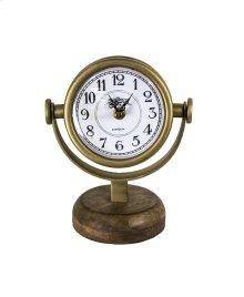 Swivel Table Clock, Gold