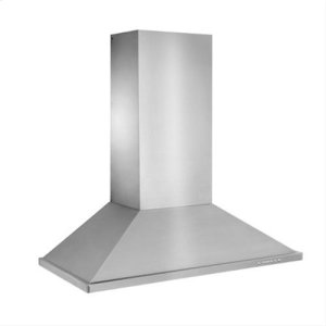 "Best48"" Brushed Stainless Steel Wall Mount Chimney Hood with Internal 1200 CFM Blower"