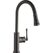Elkay Explore Single Hole Kitchen Faucet with Pull-down Spray and Forward Only Lever Handle Antique Steel