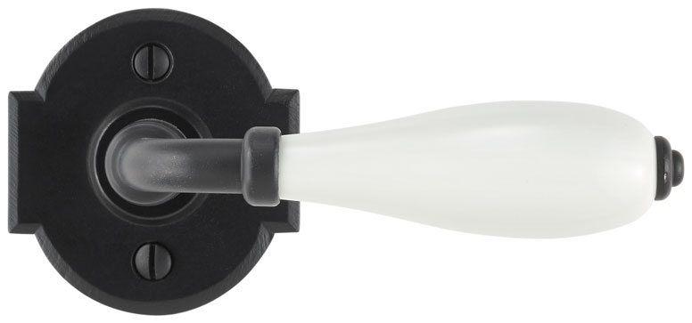 Lever on rosette set - Passage trim set