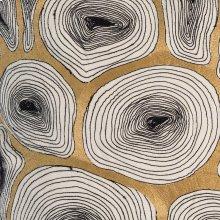 Agate Pillow-Black/Gold