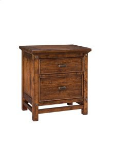Wolf Creek Two Drawer Nightstand