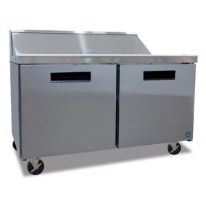 HoshizakiRefrigerator, Sandwich Top Prep Table, Stainless Door, Two Section