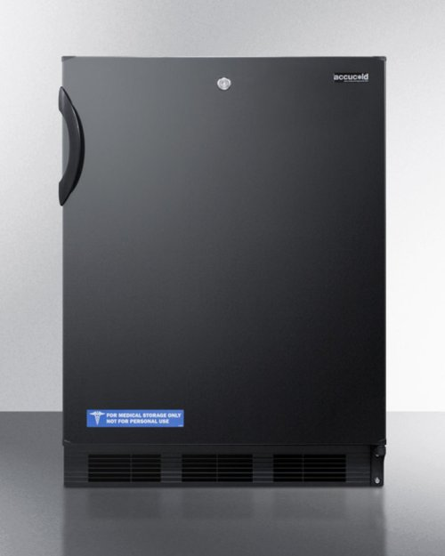ADA Compliant All-refrigerator for Freestanding General Purpose Use, With Lock, Flat Door Liner, Auto Defrost Operation and Black Exterior