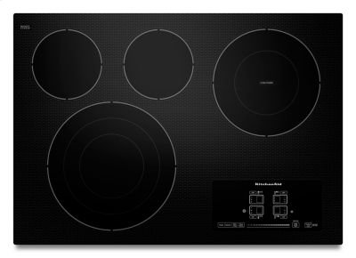 "30"" Electric Cooktop with 4 Radiant Elements and Touch-Activated Controls - Black Product Image"