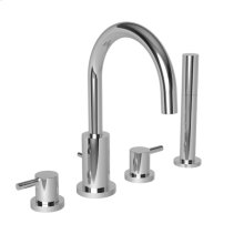 Polished Nickel - Natural Roman Tub Faucet with Hand Shower