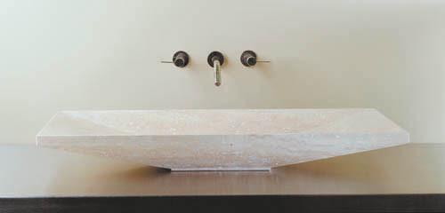 Verona Vessel Sink, 24 Travertino Romano