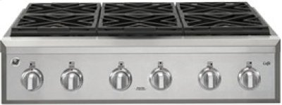 """36"""" Professional Gas Cooktop with 6 Burners Product Image"""