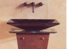 Verona Vessel Sink, 24 Black Granite