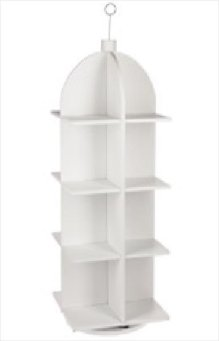 16 Shelf Wooden Floor Display Rack