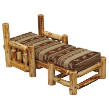 Futon Cover For Chair and Ottoman Standard Fabric, Natural Cedar