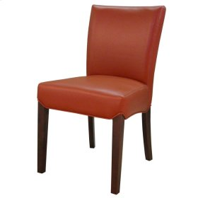 Beverly Hills Bonded Leather Chair, Pumpkin