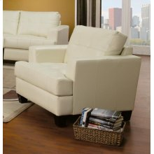 Samuel Transitional Cream Chair