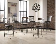 "24"" Swivel Barstool w/ PU Cushion"