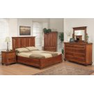 "Queen Panel Bed With Boat Rails And Boat Footboard 70""Wx58""Hx86""L Product Image"