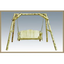 Montana Log Lawn Swing Exterior Finish