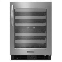 KitchenAid® 24'' Wine Cellar, Right-Hand Door Swing, Architect® Series II - Stainless Steel