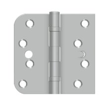 "4"" x 4"" x 5/8"" x SQ Hinge, Handed, Ball Bearing, Security - Brushed Stainless"