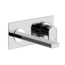 """TRIM PARTS ONLY Wall-mounted washbasin mixer trim Spout projection 7-1/2"""" Drain not included - See DRAINS section Requires in-wall rough valve 26697 Max flow rate 1"""