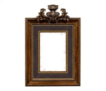 Large Carved Honey Walnut Mirror