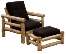 Futon Chair & Ottoman - Natural Cedar