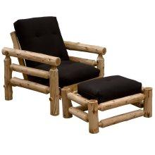 Futon Chair & Ottoman - Natural Cedar