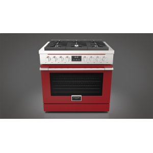 "Fulgor Milano36"" All Gas Range - Glossy Red"