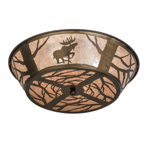 "22"" Wide Moose on the Loose Flushmount"