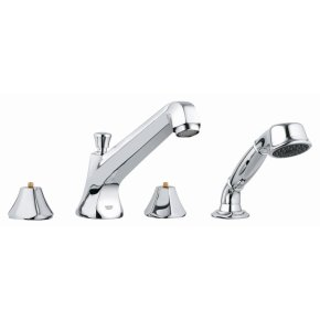 Somerset Four-Hole Roman Bathtub Faucet with Handshower