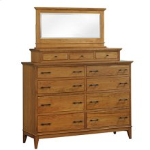 Cortland Dresser & Mirror with 3-Drawer Unit for top of dresser
