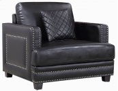 "Ferrara Leather Chair - 39.5""L x 35""D x 34""H"