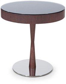 Modrest Jackson - Modern Brown Oak End Table w/ Glass