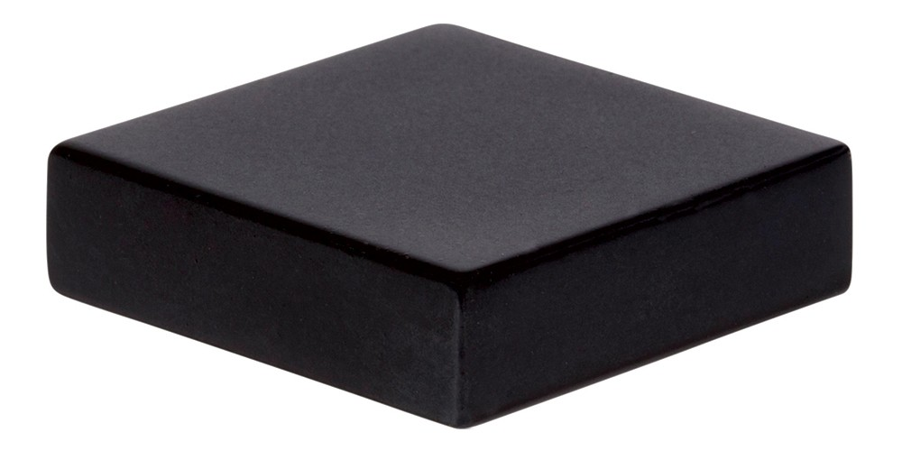 Thin Square Knob 1 1/4 Inch - Matte Black