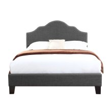 Emerald Home Madison Upholstered Bed Kit Full Charcoal B131-09hbfbr-13
