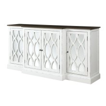 """Emerald Home Mountain Retreat 78"""" Cabinet W/mirror Accent Top:brn Base:white D601-60-09"""